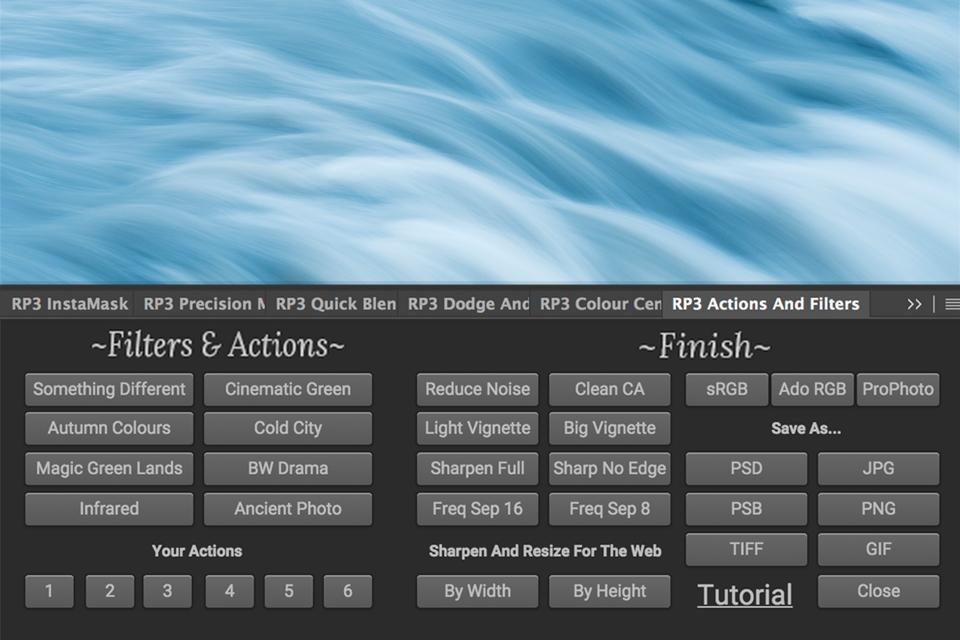 Raya Pro Filters and Finish Panel