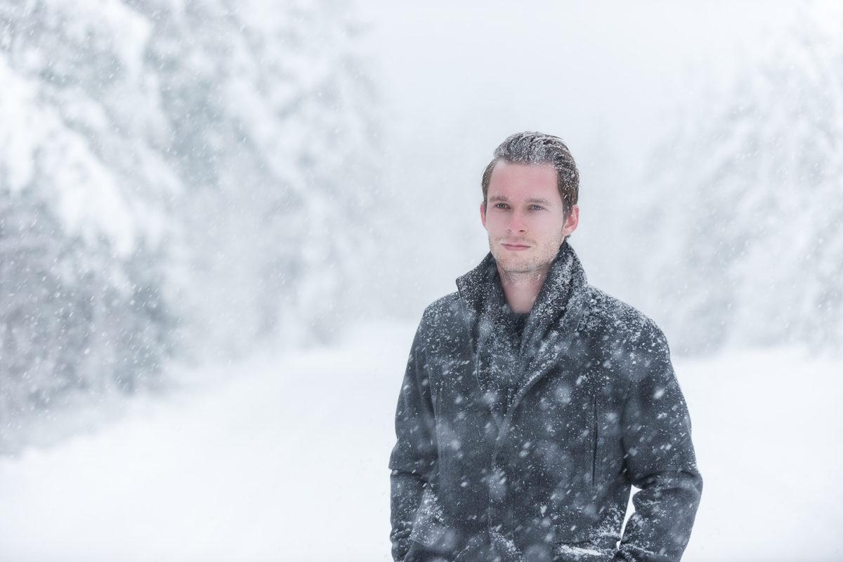 male winter portrait