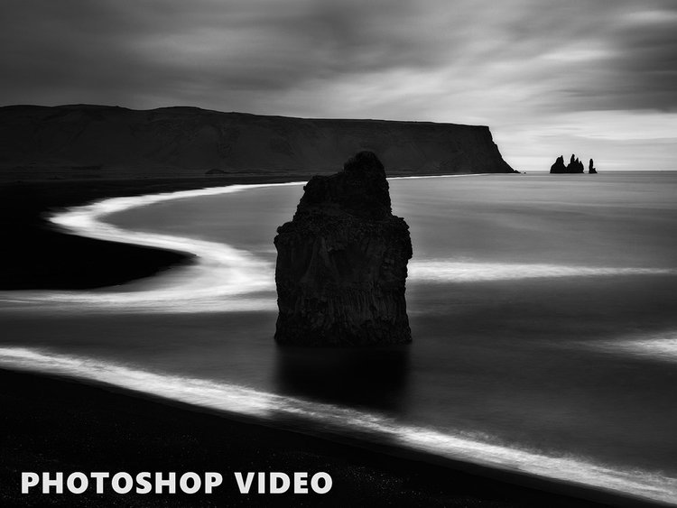 Black and white photo processing photoshop course