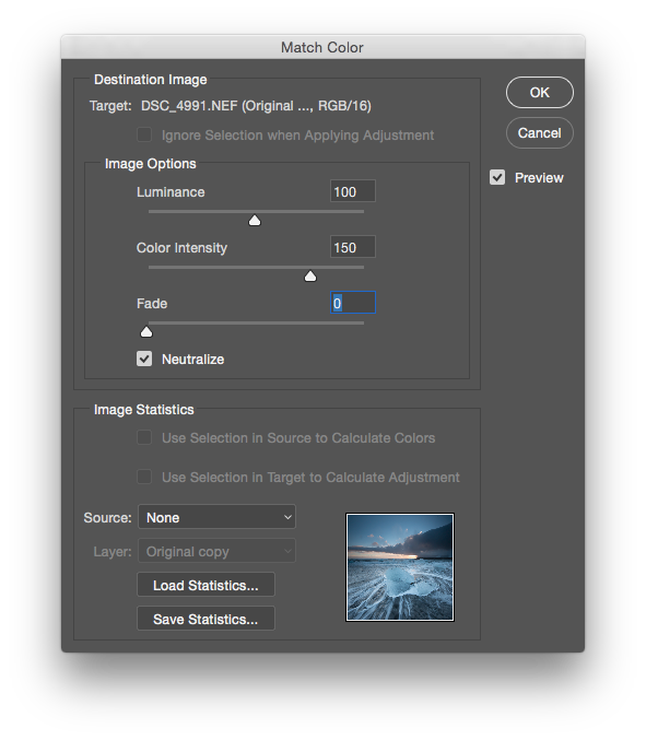 Remove Color Cast in Photoshop with Match Color