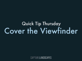 Cover the Viewfinder Long Exposure Photography