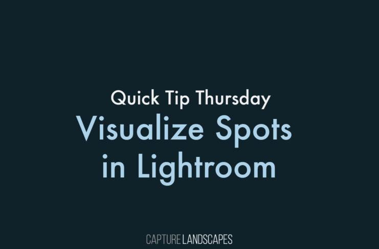 Visualize Spots in Lightroom