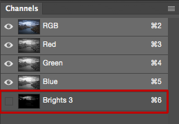 Select and Apply Luminosity Masks