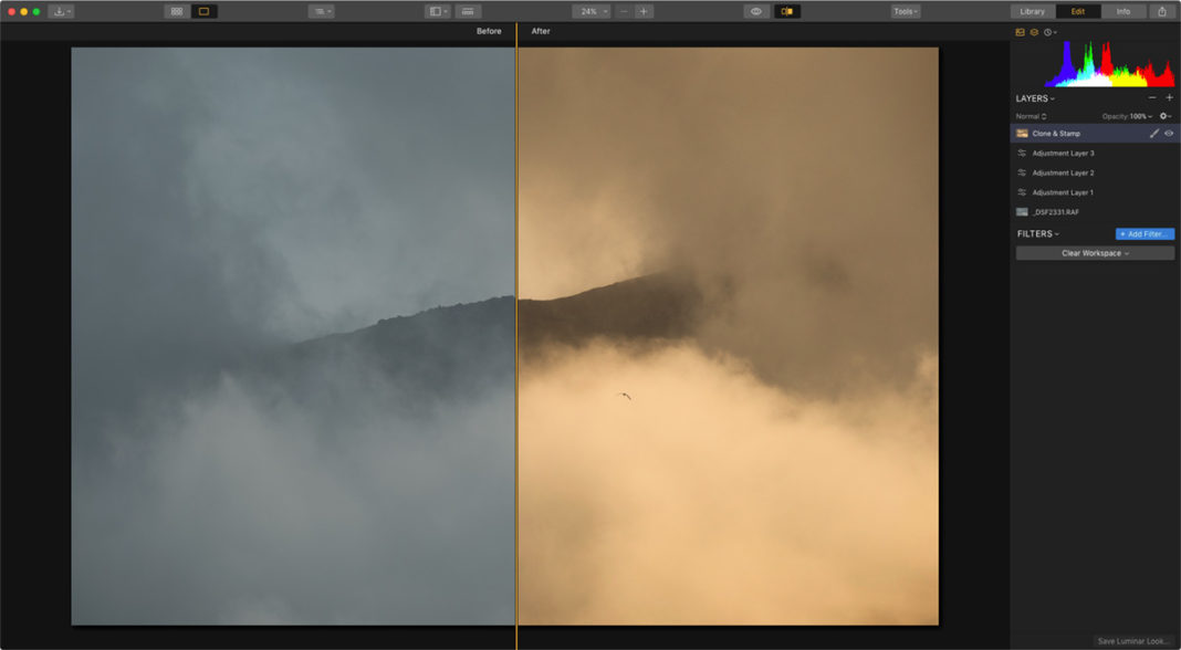 Process Images in Luminar 3.1