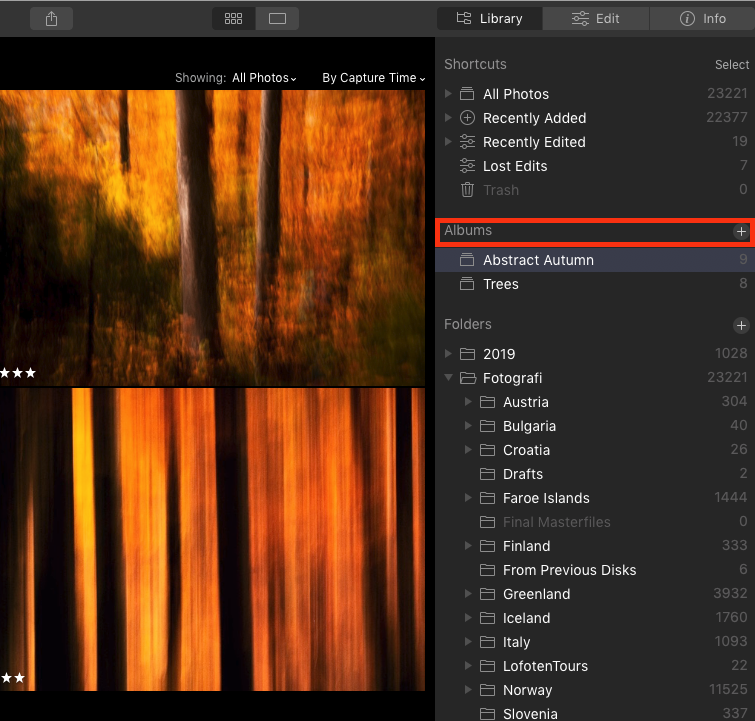 How to Use Luminar Albums