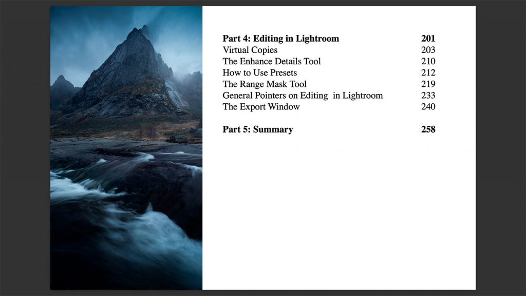 Mastering Lightroom Course Example
