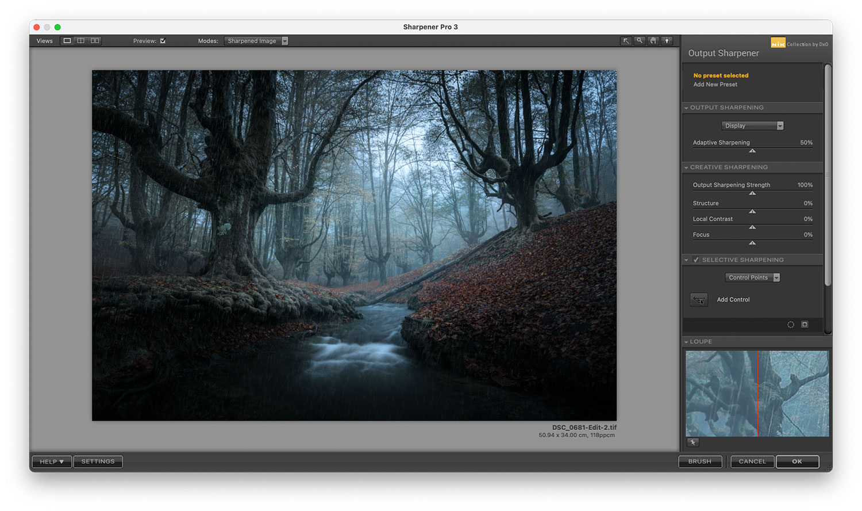 Web sharpener in Photoshop
